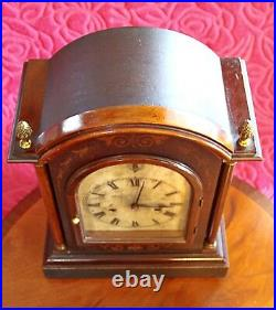 ANTIQUE GERMAN'HAC' BRACKET 8-DAY MANTEL CLOCK WITH CHIMES, 19th Century