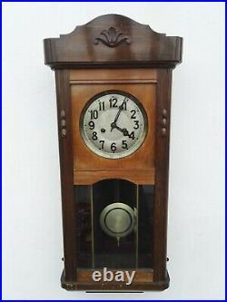 ANTIQUE Gustav Becker 1915 GERMAN PENDULUM WALL CLOCK REGULATOR WITH GONG CHIME