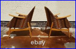 A Pair Of Vintage German Cocktail Lounge Armchairs Circa 1965 Chairs May19-8