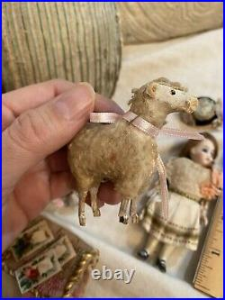 All Bisque Antique French Mignonette Doll With Presentation Egg And Accessories