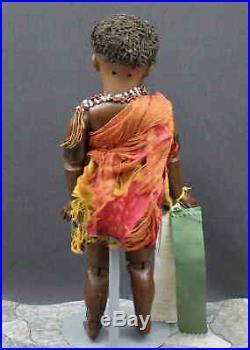 All Original Antique German Bisque Doll S & H #739 Black Doll