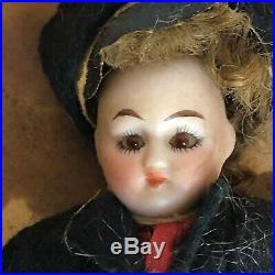 All Original Boxed Antique German Bisque Glass-Eyed Boy/Girl Dolls 4
