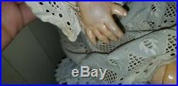 Antique 1078 Simon & Halbig Bisque Socket Head & Composition Doll Antique Dress