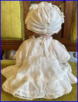 Antique 12 Bisque Closed Mouth German 253 AM Borgfeldt Googlie Doll