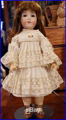 Antique 12 German Bisque RARE Size AM 400 Closed Mouth Doll in Blue Book