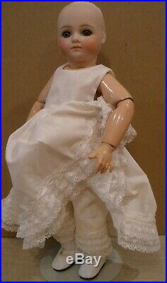 Antique 14 Kestner closed mouth bisque socket head doll, repaired bargain