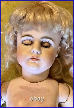 Antique 15 979 Closed Mouth Simon Halbig German Bisque Doll With8 Ball Body Perfe