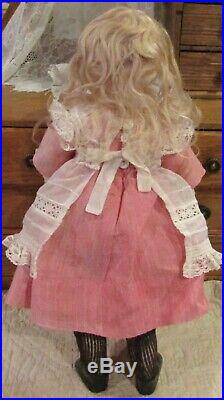 Antique 15 German Bisque Closed Mouth Kestner Doll on 8 Ball Straightwristed