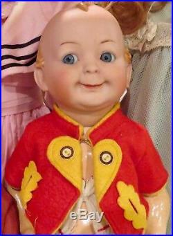 Antique 16 German Bisque RARE Hertel Schwab 172 Googlie Toddler Doll REDUCED