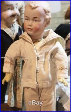 Antique 17 German Bisque Gebruder Heubach RARE Mold #7322 Doll