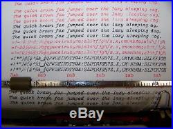 Antique 1960 Adler Primus Vintage German Typewriter Rare Script Font