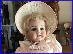 Antique 20-1/2 Bisque Head Karl Hartman German Doll