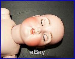 Antique 20 GERMAN Bisque head DOLL KR S & H 403 KAMMER & REINHARDT Rare Body