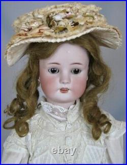 Antique 25 German Simon Halbig Borgfeldt Bisque Head Doll Great Antique Dress