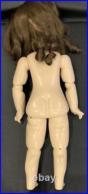 Antique 27 German Kley Hahn Walkure Bisque Doll 16 Germany 14 1/2 Teeth & Gown