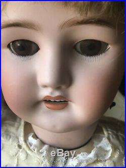 Antique 30 Bergmann Simon Halbig 13 1/2 Bisquehead Doll Sweet