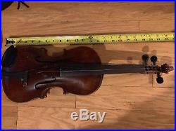 Antique 4/4 German Violin JACOB STAINER Copy Old Vintage Fiddle Ready to Play