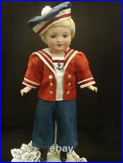 Antique Armand Marseille rare mold 985 Character doll Sailor