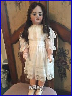Antique Beautiful 29 Jumeau French Doll Marked DEP 13 With Chunky French Body