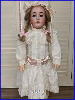Antique Bisque Doll Kestner Germany 35 142 Gorgeous Dress