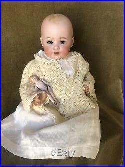 Antique Bisque Kestner Baby Doll Molded Hair 12