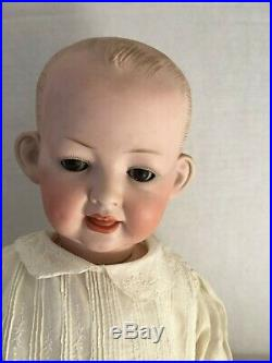 Antique Bisque Kley & Hahn 2 FACE Solid Dome Character Baby