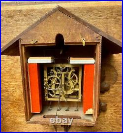 Antique Black Forest Cuckoo German Clock Circa 1920