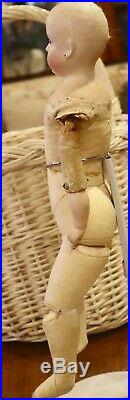 Antique C1890 18 German Bisque 152 Closed Mouth Kling Lady Doll