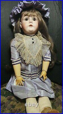 Antique Doll German Bisque 30 Kestner L Human Hair Wig Alphabet