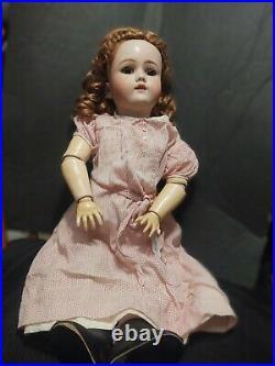 Antique Doll German Bisque Bergman Halbig 23 Original Eyes 17 Piece Body