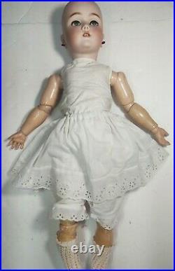 Antique Doll German Bisque Halbig Handwerck 24 Original Stamped Body