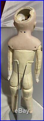 Antique Doll J. D. Kestner 147 German Bisque Shoulder Head on Kid Leather Bod 19