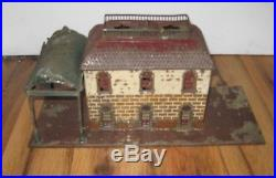 Antique Early 1900s German Bing Train Station Rare Vintage Canopy O Gauge