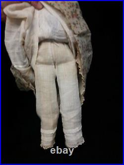 Antique Early German China Doll With Short Cropped Hai, Circa 1850r