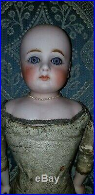 Antique French Or German Bisque Closed Mouth No Mold #6 Belton Fashion Doll