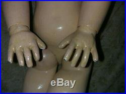 Antique French doll Tete Jumeau SFBJ period 20 (50cm) no cracks
