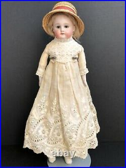 Antique German 14 Unmarked Kestner  Closed Mouth Bisque Doll Kid Body