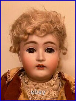 Antique German 17 Bisque Lady Doll 162 by Kestner circa 1910, original clothes