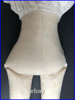 Antique German 21 Kestner Bisque Turned Head Doll Cloth Body