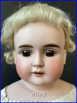 Antique German 27 Alt Beck Gottschalck Turned Bisque Head Doll