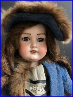 Antique German 27 Armand Marseille Floradora Doll Fur Eyebrows