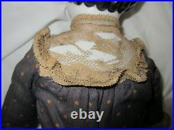 Antique German ABG Large China Head Doll in Original Costuming