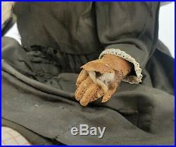 Antique German All Bisque Shoulder Head Doll ca1910