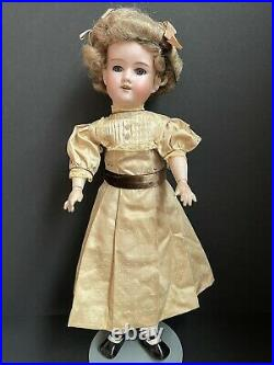 Antique German Armand Marseille 390 Bisque Head Doll Wood/Composition Body