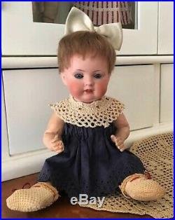 Antique German Bahr & Proschild Bisque Head Character doll 604 Glass Sleep Eyes