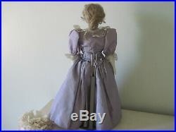 Antique German Biedermeier China Shoulder Head Doll with Wig c1850