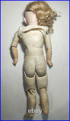 Antique German Bisque Doll 26 Shoulderhead Kestner 154 Dep