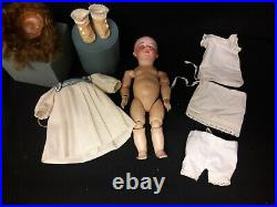 Antique German Bisque Doll by Swaine and Co. Marked D. I. P. On Toddler Body