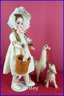 Antique German Bisque Head Doll EARLY Handwerck 109 Doll Antique Wig Sleep Eyes