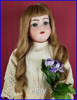 Antique German Bisque Head Doll Handwerck 119 Jointed Body Blue Sleep Eyes 27